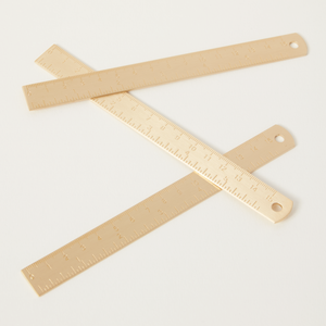 Premium Gold Brass Ruler / Bookmark