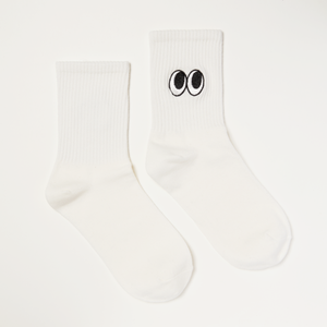 Cartoon Eyes White Socks