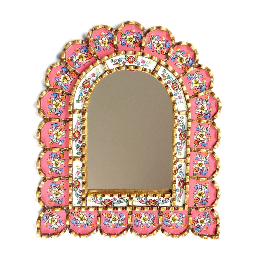 Handcrafted arch shaped mirror - Asiri rosa