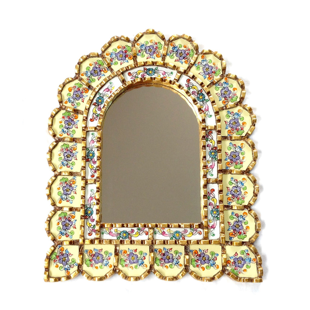 Handcrafted arch shaped mirror - Asiri cream