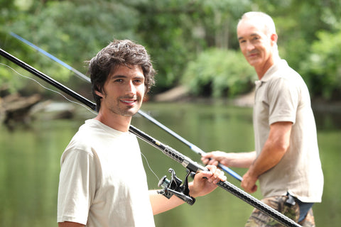 Father son fishing vacation