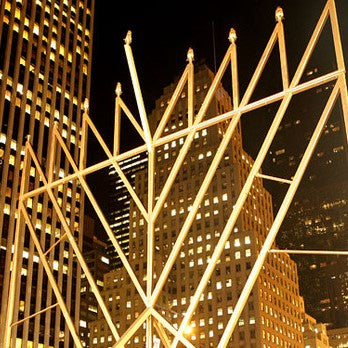 Largest menorah at Hanukkah Lollapalooza in NYC