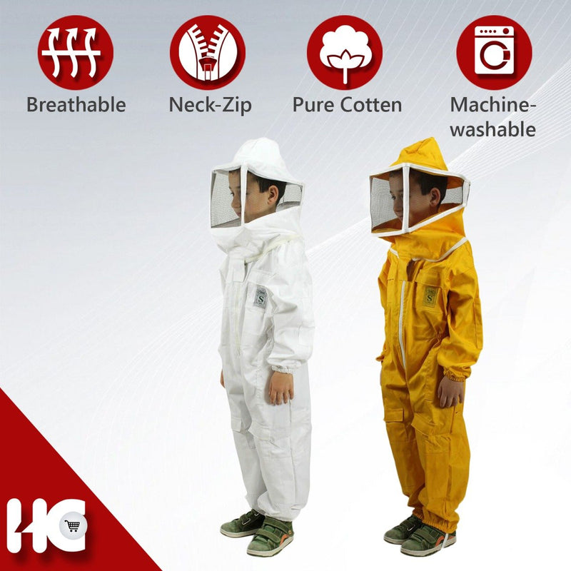 Children's Beekeeping Suit with Square Veil Protective Mask - HugeCARE Srl