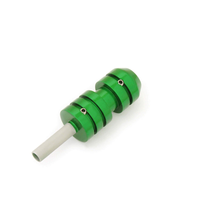 Tattoo Cartridge Grip Green With Back Stem 25Mm - HugeCARE Srl