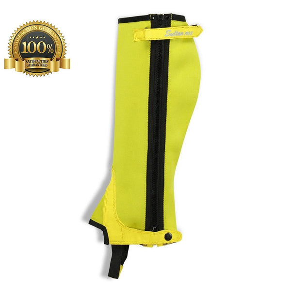 Horse Riding Half Chaps Made Of Yellow Neoprene - HugeCARE Srl