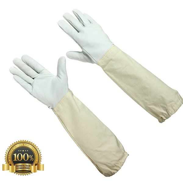 Children's Beekeeping Leather Gloves with Long Sleeves - HugeCARE Srl