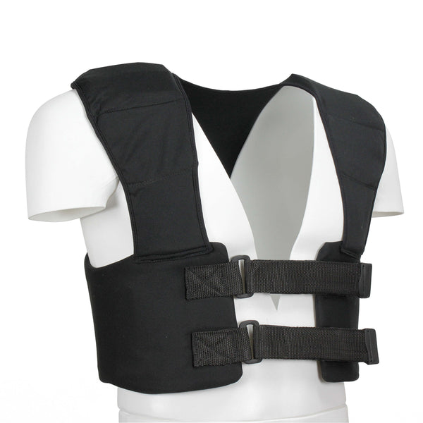 Kart Racing Rib Protective Vest Black Color - HugeCARE Srl