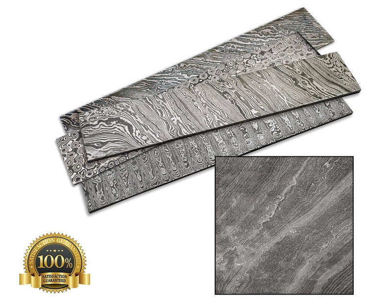 Bar Steel Damascus 380X65X4Mm Twisted - HugeCARE Srl