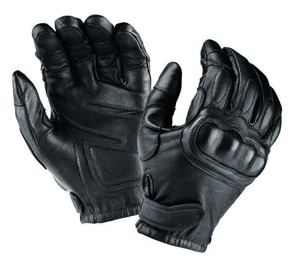 Tactical Leather Gloves W/ Stiff Knuckles & Kevlar Lining - HugeCARE Srl