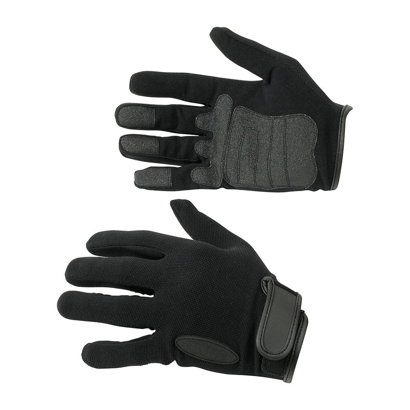 Light-Weight Ammarah Synthetic Black Leather Gloves - HugeCARE Srl