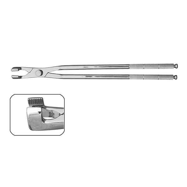 "20"" Serrated Jaw Molar Forceps with Fulcrum - HugeCARE Srl"