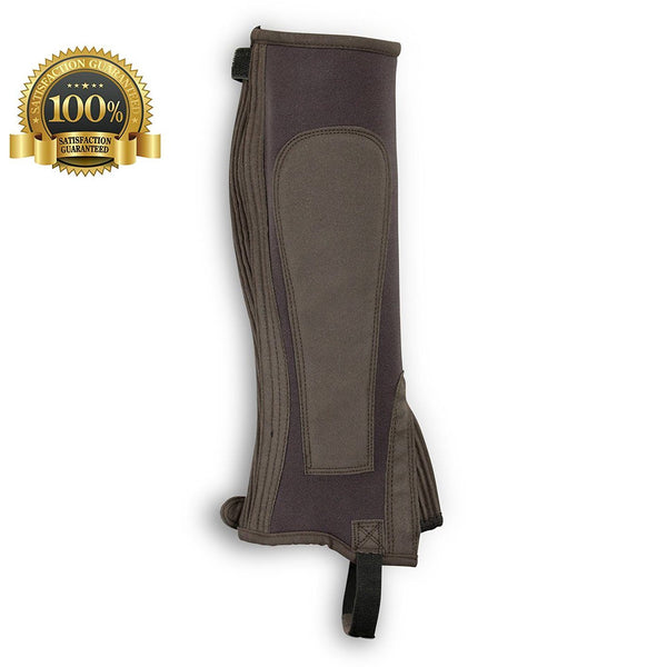 Horse riding chaps made of brown neoprene - HugeCARE Srl