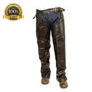 Full Chaps Horse Riding Leather Made Of Dark Brown Leather - HugeCARE Srl