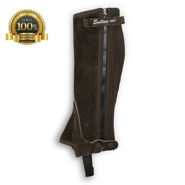 Suede Leather Half Chaps Made Of Brown Suede Leather - HugeCARE Srl