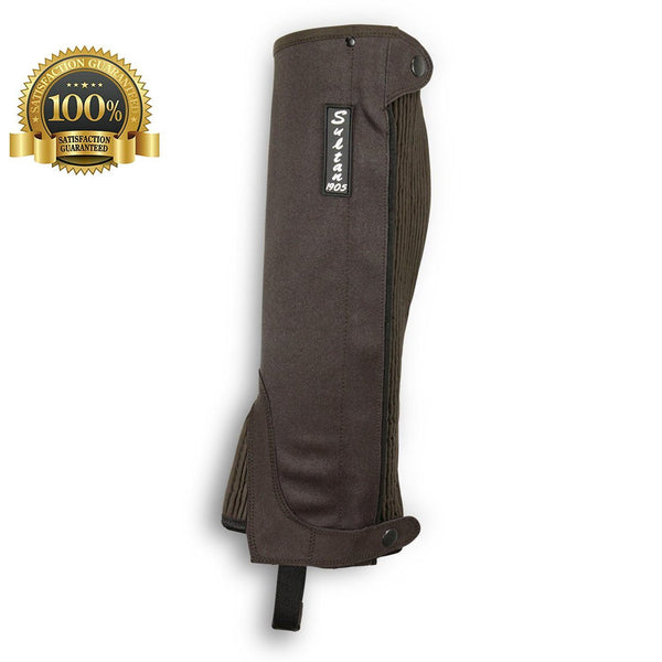 Horse Riding Gaiters Half Chaps Made Of Brown Amara - HugeCARE Srl