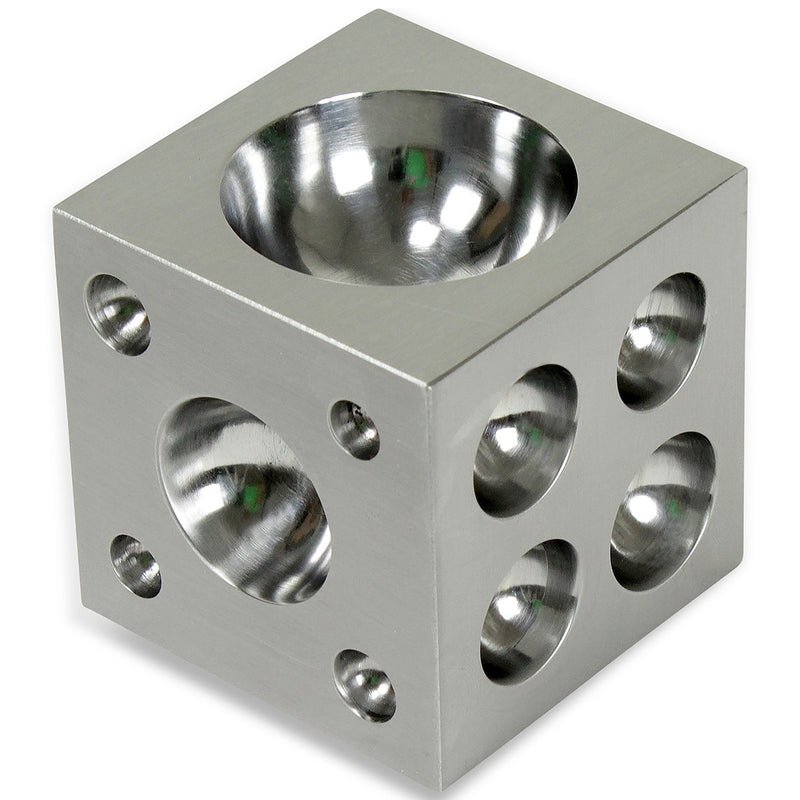 Dapping Block Square with Polished High Carbon Steel Cavities - HugeCARE Srl