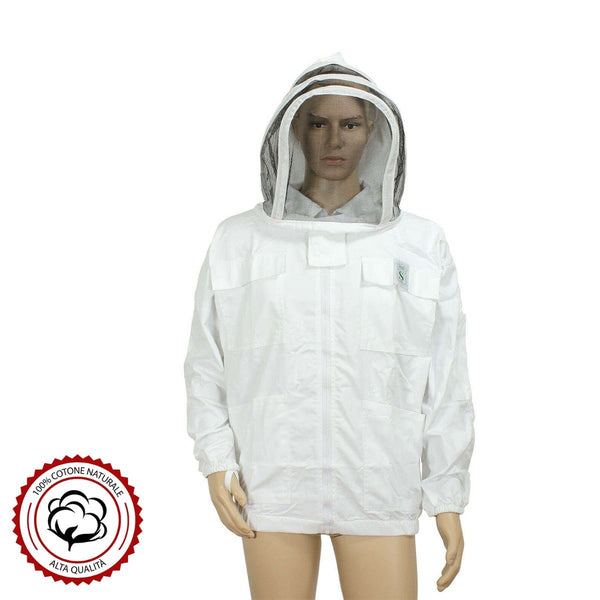 Ventilated Beekeeping Jacket with Fence Veil-Oval Mask - HugeCARE Srl