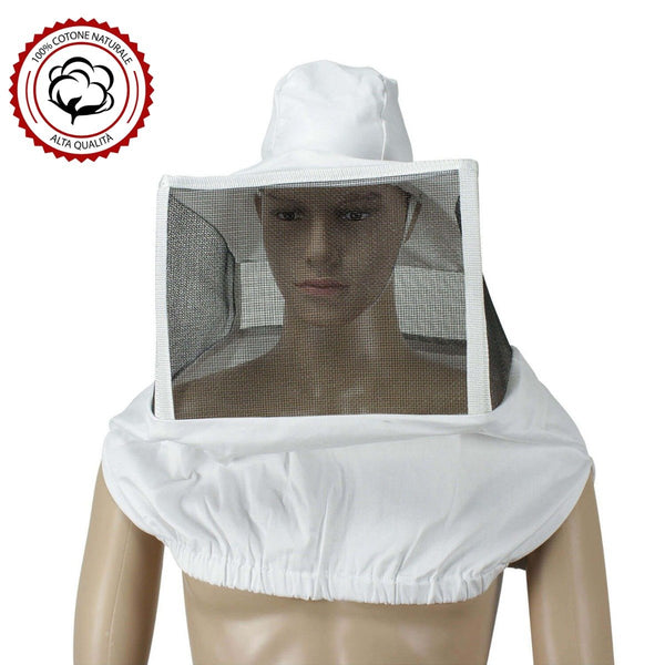 White Beekeeping Square Mask - HugeCARE Srl