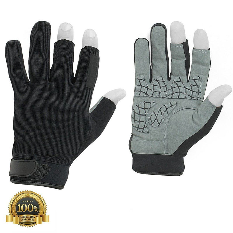 Special Shooting Tactical Leather Gloves Sensitivity - HugeCARE Srl