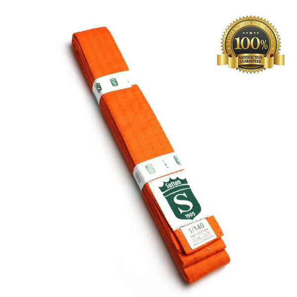 Premium Martial Arts Orange Belt For Kids - HugeCARE Srl