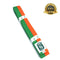 Premium Martial Arts Bicolor Belt Split Length Green and Orange - HugeCARE Srl