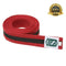Premium Martial Arts Red Color Belt with Black Stripe - HugeCARE Srl