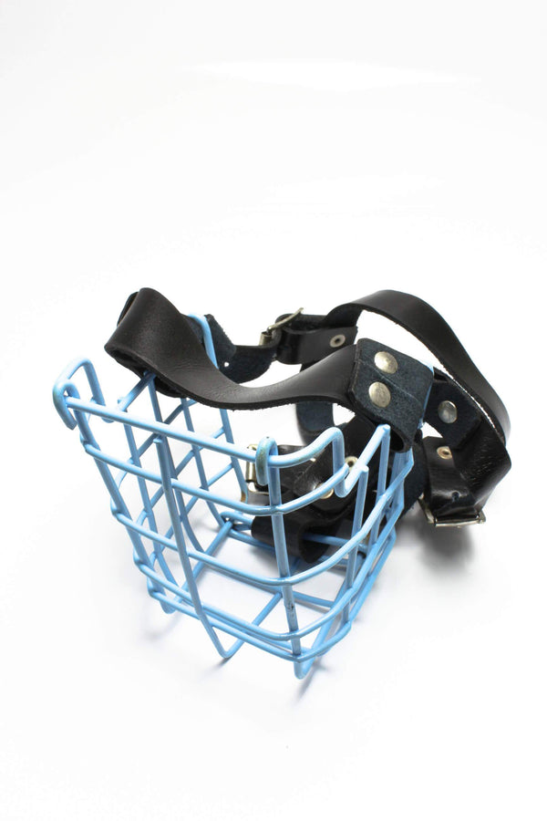 Blu Muzzle Steel/Leather - HugeCARE Srl