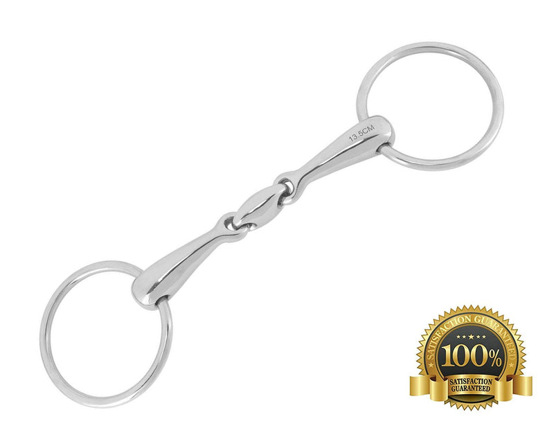 Professional Loose Ring Snaffle Bits With Oval Link - HugeCARE Srl