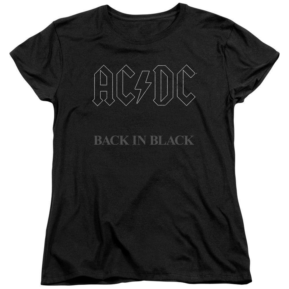 AC/DC Back In Black Album Cover Women's T-Shirt - Rocker Merch