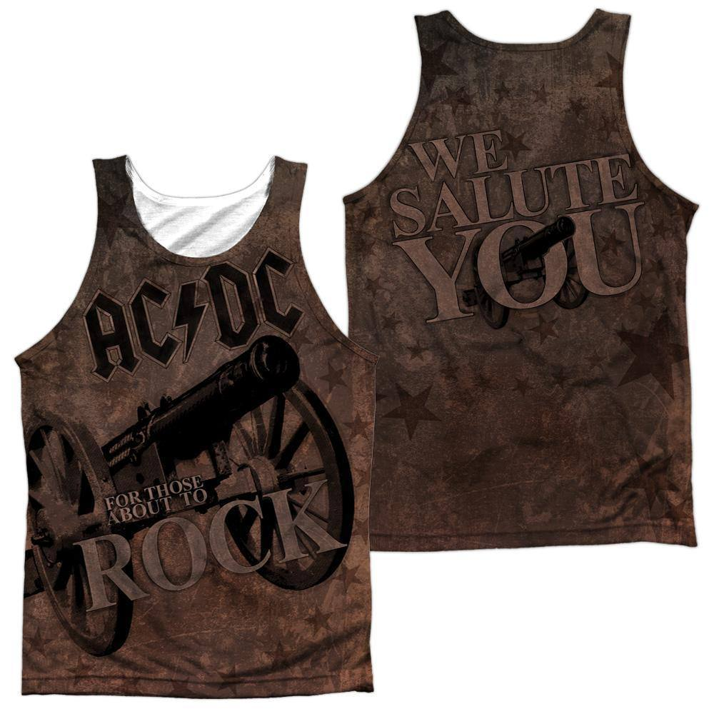 AC/DC We Salute You Cover Sublimation Tank Top - Rocker Merch