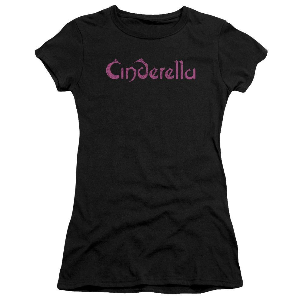 Cinderella Band Distressed Logo Juniors T-Shirt - Rocker Merch