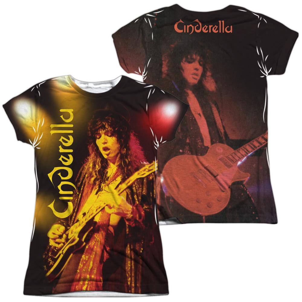 Cinderella Band Live Show Sublimation Juniors T-Shirt - Rocker Merch