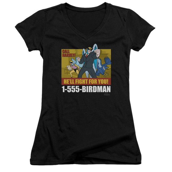 Harvey Birdman Birdman Ad Juniors T-Shirt