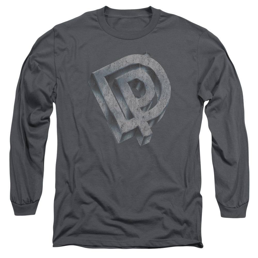 Deep Purple Distressed DP Logo Long Sleeve T-Shirt
