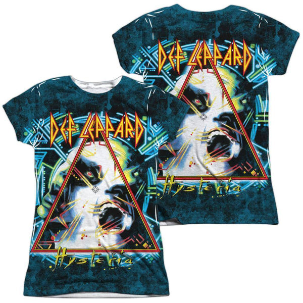 Def Leppard Hysteria Album Sublimation Juniors T-Shirt