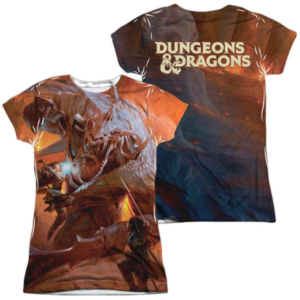 Dungeons & Dragons Player's Handbook Cover Sublimation Juniors T-Shirt