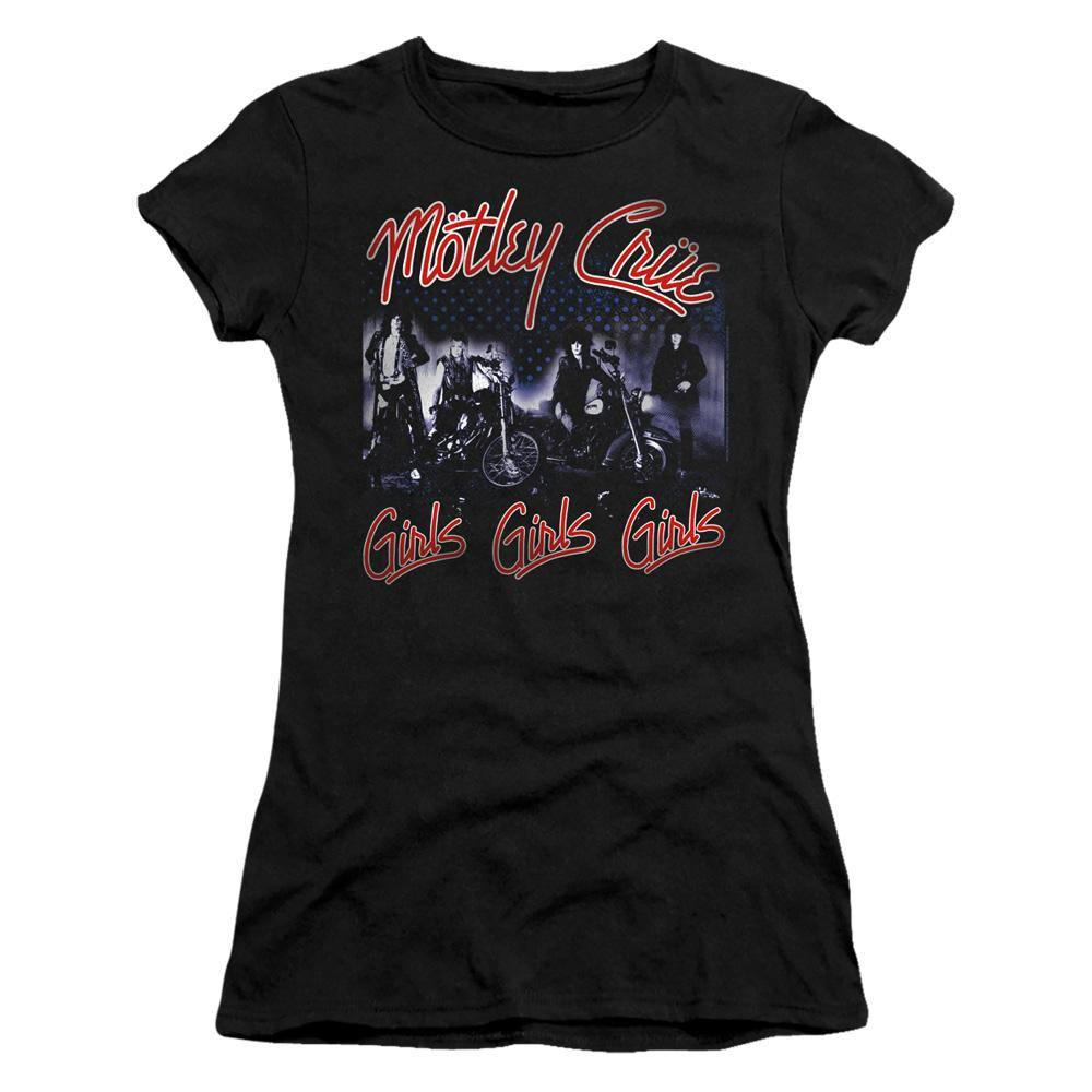 Motley Crue Girls Girls Girls Album Cover Juniors T-Shirt - Rocker Merch