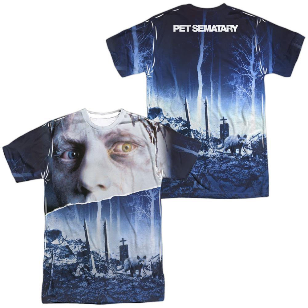 Pet Sematary 1989 Movie Poster Sublimation T-Shirt - Rocker Merch