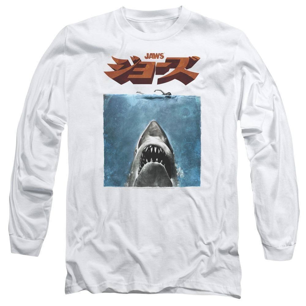Jaws 1975 Kanji Movie Poster Long Sleeve T-Shirt