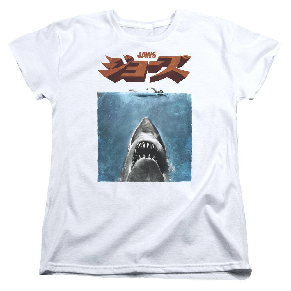 Jaws 1975 Kanji Movie Poster Women's T-Shirt