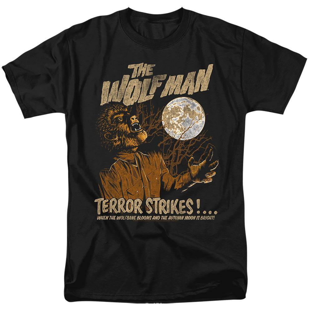 Universal Monsters The Wolf Man Terror Strikes T-Shirt