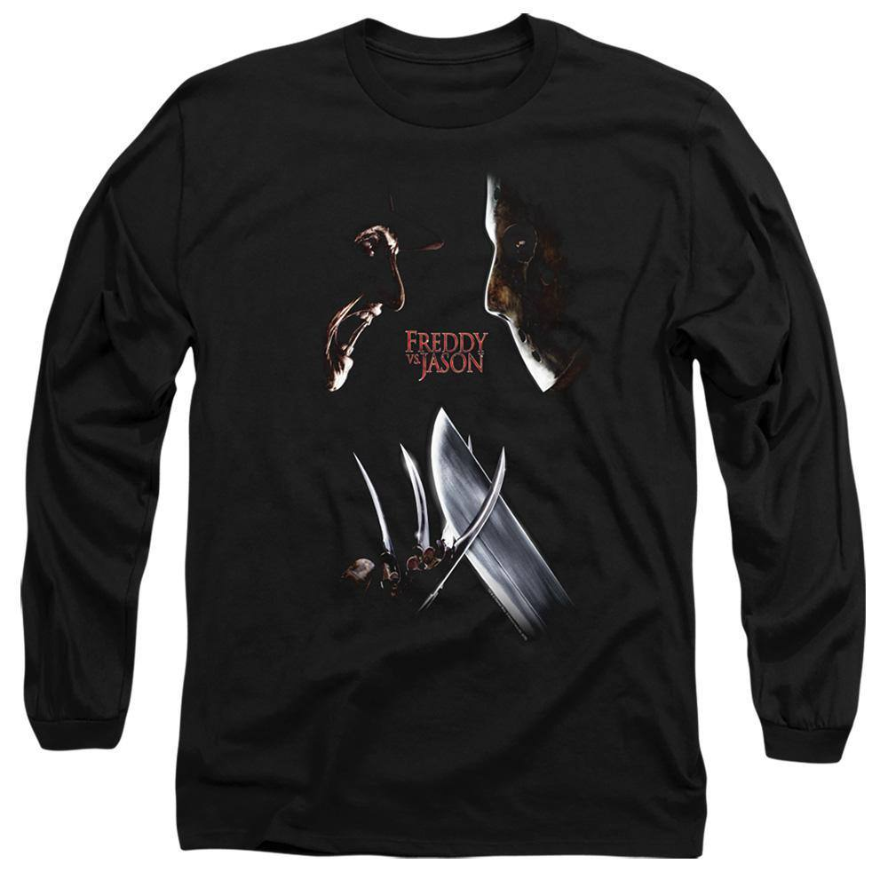 Freddy VS Jason Face Off Long Sleeve T-Shirt