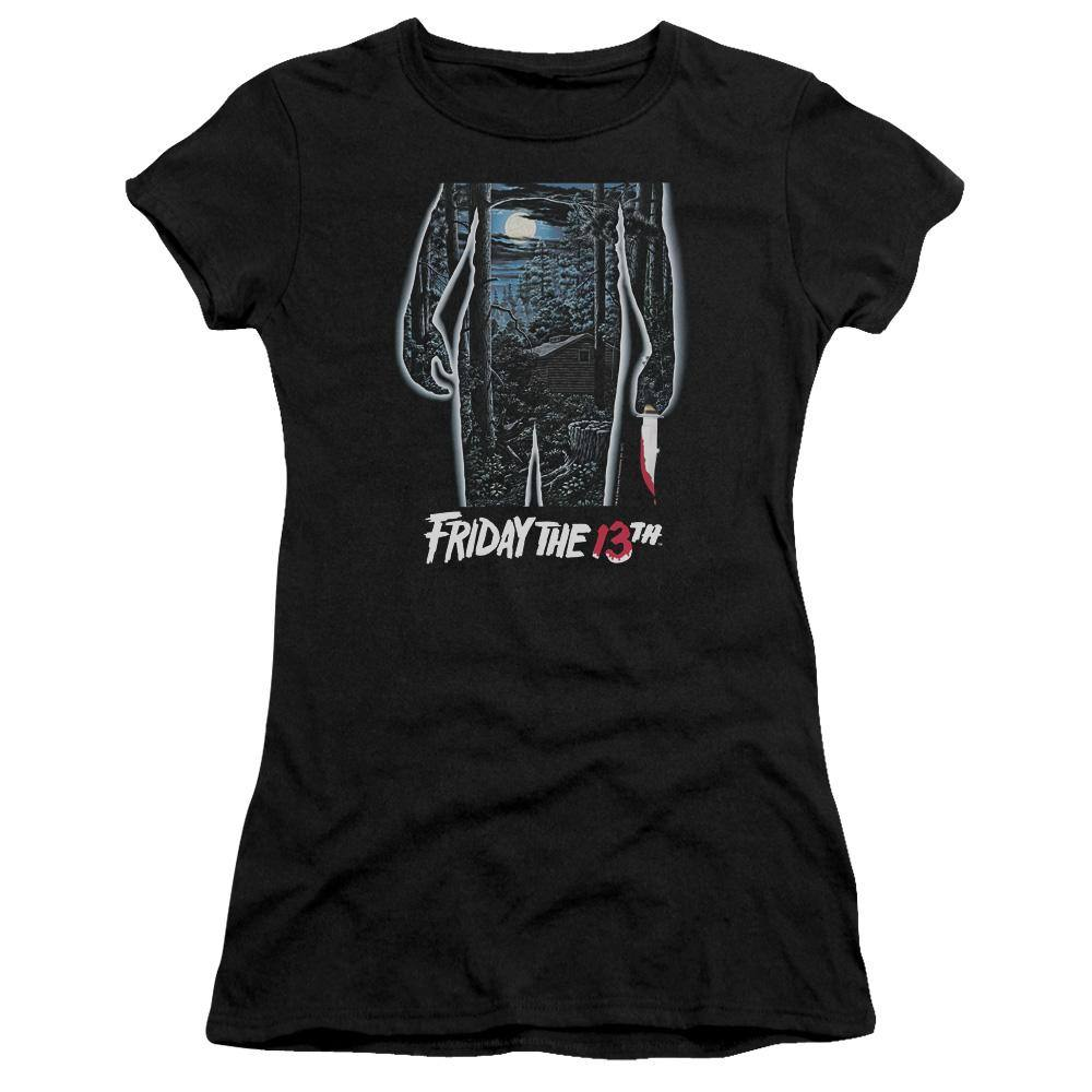 Friday The 13th Movie Poster Juniors T-Shirt - Rocker Merch