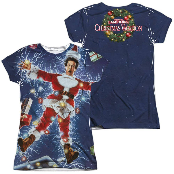 Christmas Vacation Movie Electrified Sublimation Juniors T-Shirt