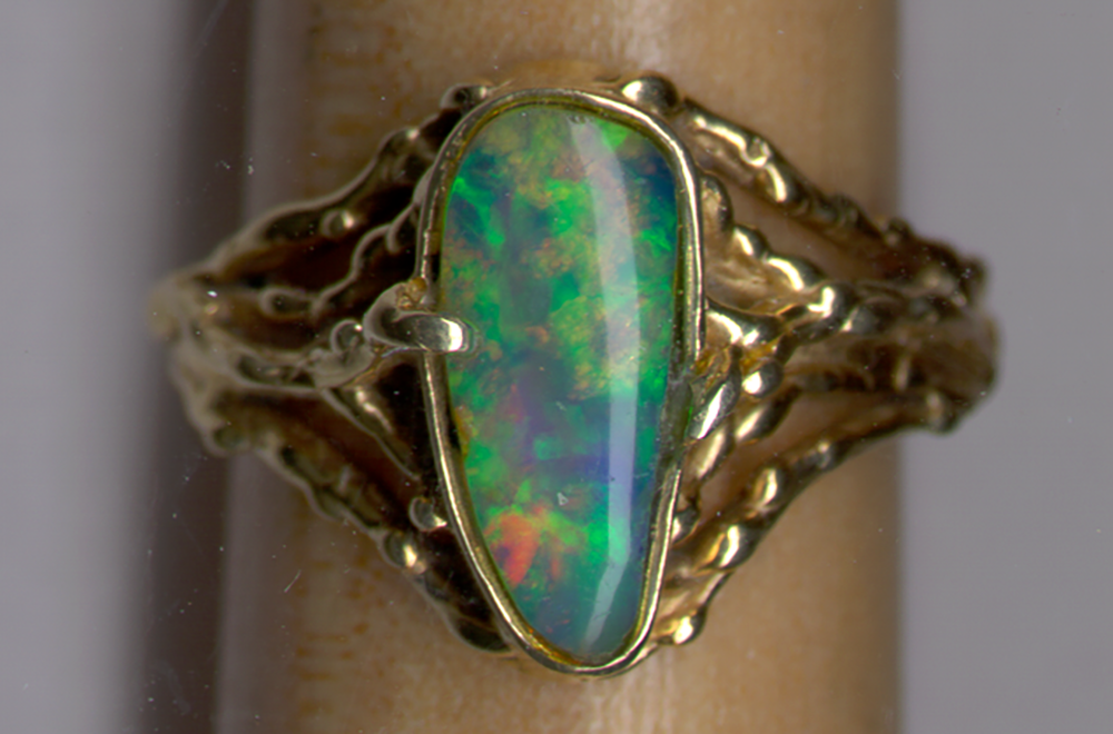 Canadian Opals in Vernon, British Columbia, Canada - Opal ring