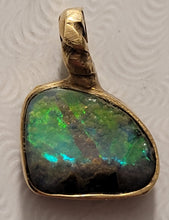 Load image into Gallery viewer, Freeform Crystal Boulder Opal Pendant - CD20-P0007