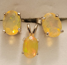 Load image into Gallery viewer, Facetted Opal Pendant and Earrings Set - RW-CD20-E0006