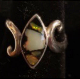 Opal Chip Mosaic Ring - Marquise Swirl - CD20-CR0001