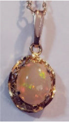 Brilliant Multi-Colour Semi-Crystal Opal Pendant - SCD20-P0001