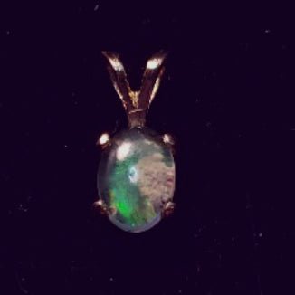 Boulder Opal Pendant in 14K Gold - CD20-P0005